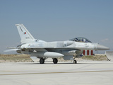 A United Arab Emirates Air Force F-16E Block 60 at Konya Air Base Photographic Print by Stocktrek Images
