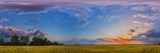Panorama of a Colorful Sunset over a Prairie in Alberta, Canada Photographic Print by Stocktrek Images