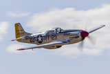 A P-51 Mustang Flies by at Vacaville, California Photographic Print by Stocktrek Images