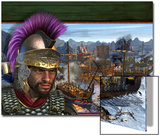 Hamilcar, the Father of Hannibal. Carthaginians Fighting Roman Galleys Posters by Stocktrek Images