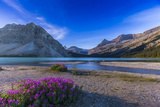 Twilight on Bow Lake, Banff National Park, Canada Photographic Print by Stocktrek Images