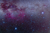 The Southern Milky Way and the Extensive Gum Nebula Complex Photographic Print by Stocktrek Images