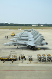 Line-Up of FA-18 Hornets on the Ramp at Naval Air Station Oceana, Virginia Photographic Print by Stocktrek Images