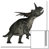 Styracosaurus Dinosaur Roaring Art by Stocktrek Images