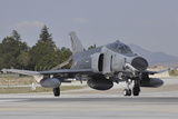 A Turkish Air Force F-4E 2020 Terminator Taxiing at Konya Air Base, Turkey Photographic Print by Stocktrek Images