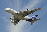 The Airbus A380 Prototype in Flight over England Photographic Print by Stocktrek Images