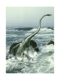 Elasmosaurus in Rough Waters Posters by Stocktrek Images