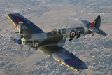 British Supermarine Spitfire Mk-16 Flying over Chino, California Photographic Print by Stocktrek Images