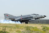 A Turkish Air Force F-4E 2020 Terminator Landing at Konya Air Base Photographic Print by Stocktrek Images