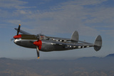 P-38 Lightning Flying over Santa Rosa, California Photographic Print by Stocktrek Images
