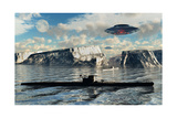 Station 211 Is a Nazi-Alien Secret Base Said to Be in Operation at the Antarctic Prints by Stocktrek Images