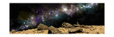 A Colorful Nebula Above a Rocky and Barren Alien World Prints by Stocktrek Images