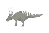 Styracosaurus Pencil Drawing with Digital Color Prints by Stocktrek Images