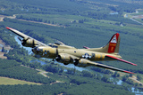 B-17 Flying Fortress Flying over Concord, California Photographic Print by Stocktrek Images