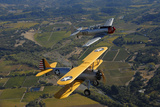 At-6 Texan and Stearman Pt-17 Flying over Santa Rosa, California Photographic Print by Stocktrek Images