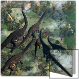 A Few Apatosaurus Join the Moving Herd Posters by Stocktrek Images
