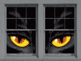 Yellow Eyed Cat WOWindow Poster Window Decal
