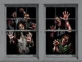 Zombie Asylum WOWindow Poster Window Decal