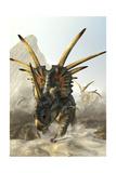A Charging Styracosaurus Stampe di Stocktrek Images