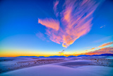 Sunset Colors over White Sands National Monument, New Mexico Photographic Print by Stocktrek Images