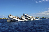 The Sinking of Uss Kittiwake, Grand Cayman Photographic Print by Stocktrek Images