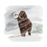 Mammuthus Primigenius Walking Through a Blizzard Prints by Stocktrek Images