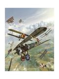 World War I U.S. Bi-Plane Attacking German Bi-Planes Prints by Stocktrek Images