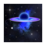 Light and Matter Being Pulled into a Black Hole Premium Giclee Print by Stocktrek Images