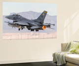 A U.S. Air Force F-16C Fighting Falcon Taking Off Wall Mural by Stocktrek Images