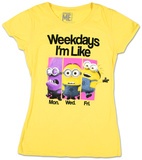 Juniors: Despicable Me- Weekdays Like T-Shirts