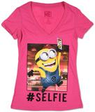 Juniors: Despicable Me- Selfie Minion T-Shirt