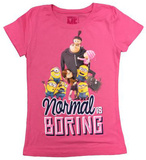 Youth: Despicable Me- Normal is Boring T-shirts