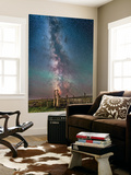 Milky Way over an Old Ranch Corral Wall Mural by Stocktrek Images
