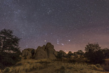 Orion Rising at the City of Rocks State Park, New Mexico Photographic Print by Stocktrek Images