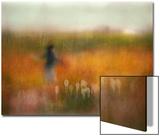 A Girl and Bear Grass Poster par Shenshen Dou