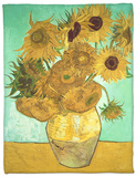 Sunflowers, c.1888 Fleece Blanket by Vincent van Gogh