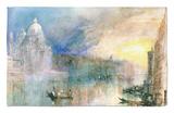 Venice: Grand Canal with Santa Maria Della Salute Rug by J. M. W. Turner