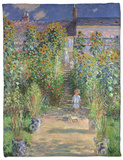 The Artist's Garden at Vetheuil, 1880 Fleece Blanket by Claude Monet