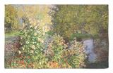 A Corner of the Garden at Montgeron, 1876-7 Rug by Claude Monet