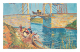 The Drawbridge at Arles with a Group of Washerwomen, c.1888 Rug by Vincent van Gogh