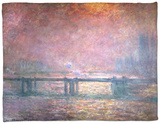 The Thames at Charing Cross, 1903 Fleece Blanket by Claude Monet