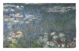 Waterlilies: Green Reflections, 1914-18 (Left Section) Rug by Claude Monet