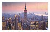 Edificio Empire State al atardecer desde el Centro Rockefeller Alfombrilla por Richard l'Anson