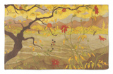 Apple Tree with Red Fruit, c.1902 Rug by Paul Ranson