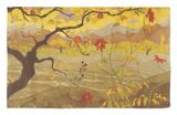 Manzano con frutos rojos, c.1902 Alfombrilla por Paul Ranson