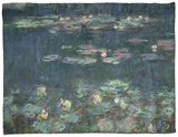 Waterlilies: Green Reflections, 1914-18 (Right Section) Fleece Blanket by Claude Monet