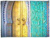 Royal Palace Door, Fes, Morocco Fleece Blanket by Doug Pearson