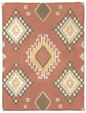 Non-Embellished Native Design II Fleece Blanket by Megan Meagher