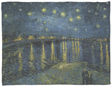Starry Night over the Rhone, c.1888 Fleece Blanket by Vincent van Gogh