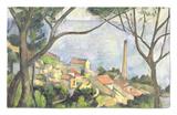 Mar en L'Estaque, 1878 Alfombrilla por Paul Cézanne